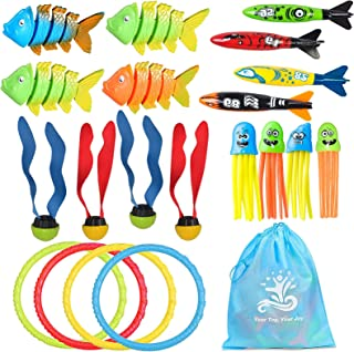 Ecledo 20pcs Diving Pool Toy for Kids Underwater Children's Toys Summer Fun Underwater Sinking Swimming Pool Fish Toys Gif...