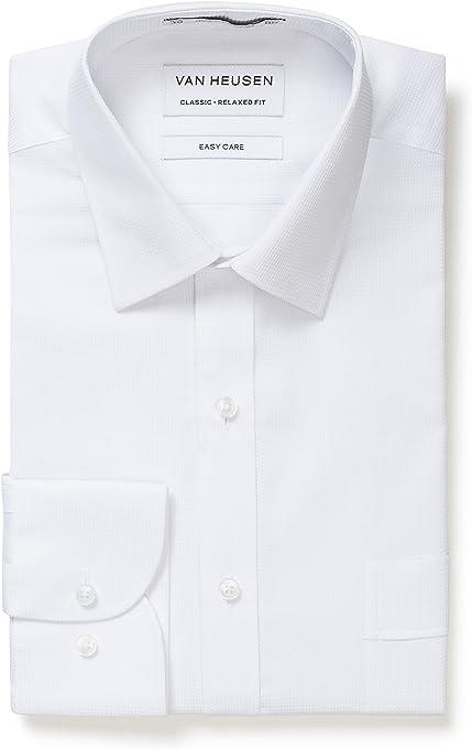 Van Heusen Classic Relaxed Fit Business Shirt Check