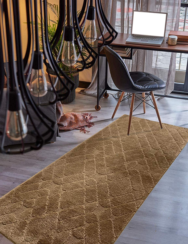Custom specialty shop Size Hallway Runner Rug Trellis 31 Color inch Wide Max 64% OFF Brown