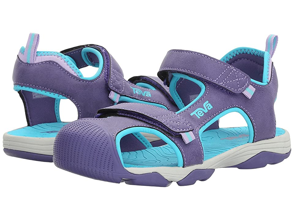 Teva Kids Toachi 4 (Little Kid/Big Kid) (Purple/Scuba Blue) Girls Shoes