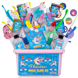 Unicorn Slime Kit for Girls - Slime Kits with Everything in One Box - Unicorn Poop Slime Kit with Unicorn Charms - Unicorn Toys for Girls