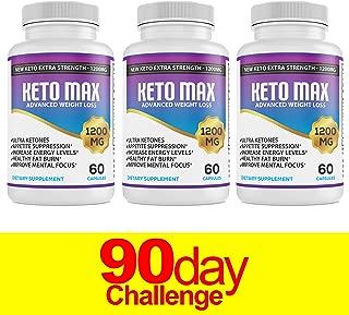 Keto Diet Pills - (1200mg 90 Day Supply) Weight Loss Fat Burner for Women & Men, Exogenous Ketones Supplement Boost