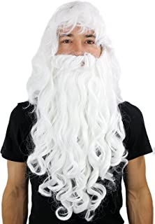 Peluca con Barba Estilo Papá Noel, hechicero, Dumbledore, Wig