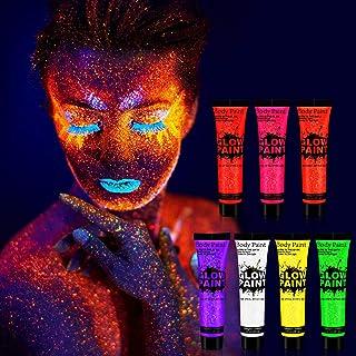 Xpassion 7 x 25 ml Pintura Corporal y Facial UV Luz Negra Pintura Arte Corporal Neón