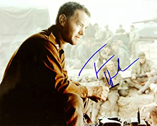 2002 - Tom Hanks Autographed 8x10 Color Photo - Signed in Blue Sharpie - Obtained in Person - From Saving Private Ryan - /Big / Forrest Gump / Apollo 13 / Toy Story / Green Mile - Out of Print - Rare - Collectible