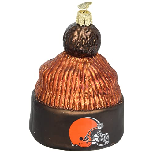 Old World Christmas Glass Blownn Ornament Cleveland Browns Beanie 627aea31e