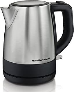 Hamilton Beach Electric Tea Kettle, Water Boiler & Heater, 1 L, Cordless, Auto-Shutoff & Boil-Dry Protection, Stainless St...