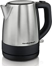 Hamilton Beach 1 Liter Electric Kettle For Tea And Hot Water, Cordless, Auto-Shutoff And Boil-Dry Protection, Stainless Steel (40998)