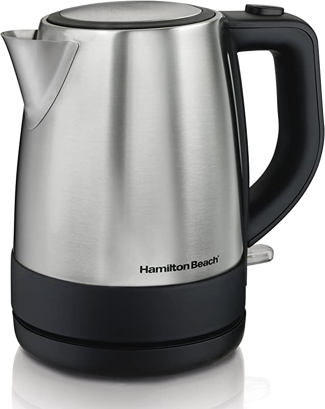 Hamilton Beach 1 Liter Electric Kettle For Tea And Hot Water Cordless Auto Shutoff And Boil Dry Protection Stainless Steel 40998