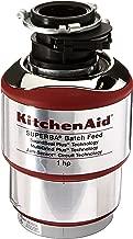KitchenAid KBDS100T 1 hp Batch Feed Food Waste Disposer, Silver