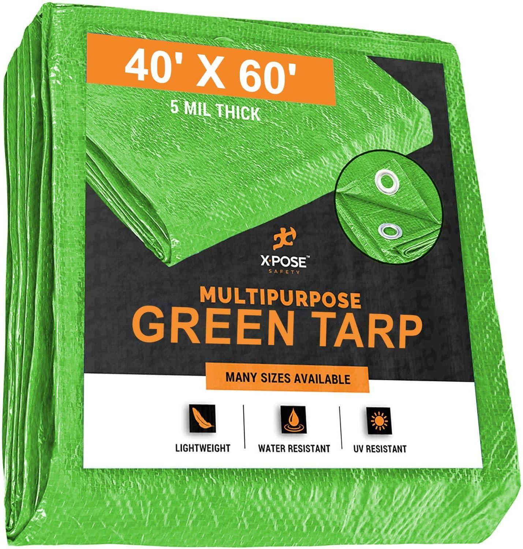 Max 54% OFF Multipurpose Protective Cover Green Poly Tarp 60' 40' Max 43% OFF x Durabl -