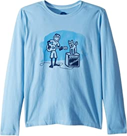 Jake and Rocket Acoustic Crusher T-Shirt Long Sleeve (Little Kids/Big Kids)