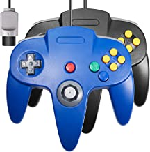 2 Pack Classic 64 Controller, iNNEXT Game pad Joystick for 64 - Plug & Play (Non PC USB Version) (Blue/Black)