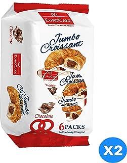 Eurocake Jumbo Chocolate Croissant 2 Packs of 6 Pieces each