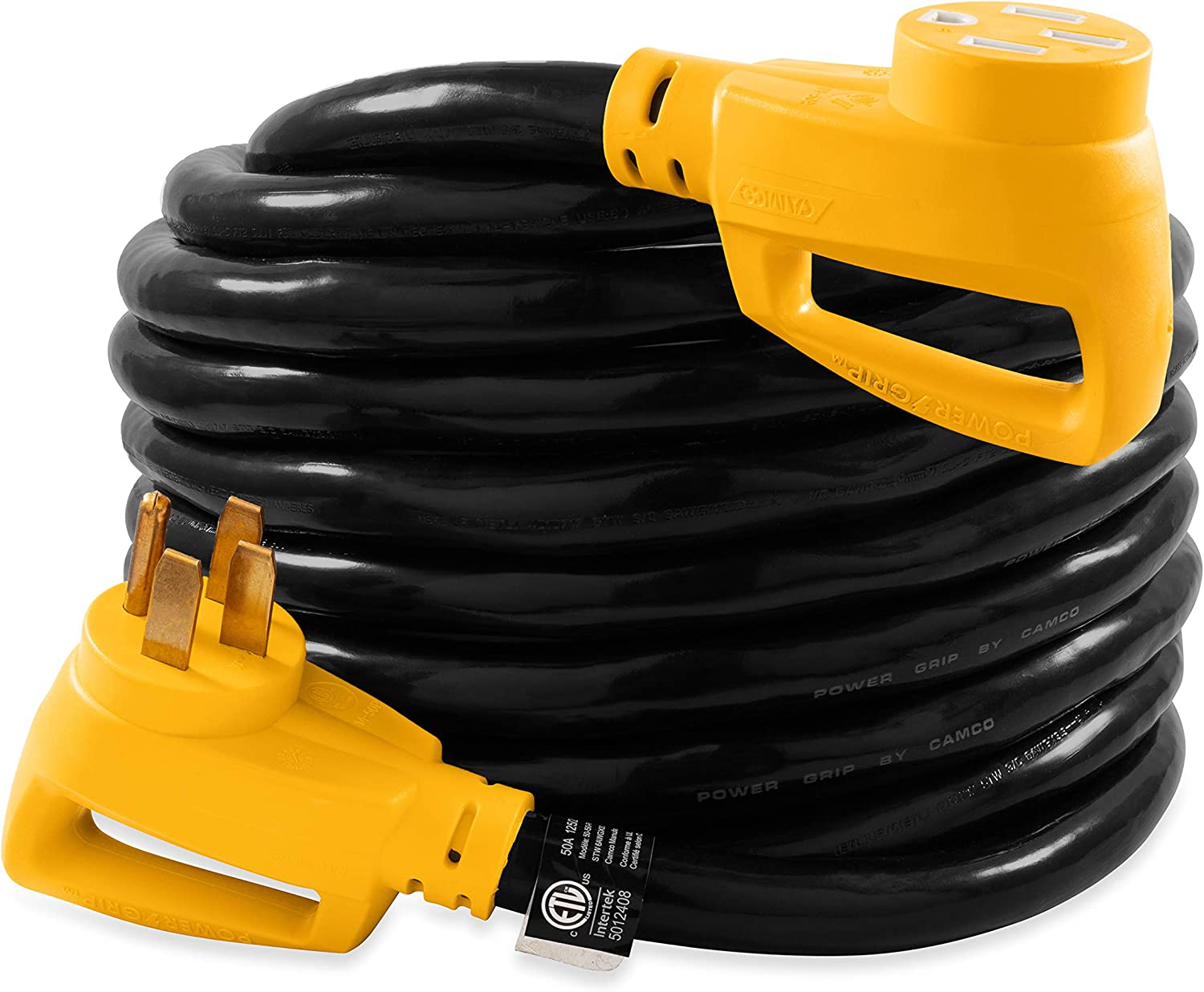 Camco sale 55195 30' Super special price PowerGrip Heavy-Duty 50-Amp Extension Co Outdoor