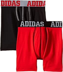 adidas Kids Sport Performance Climalite 2-Pack Boxer Brief (Big Kids)