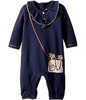 Little Marc Jacobs - Denim Effect Trompe L'Oeil Bodysuit (Infant)