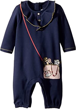 Little Marc Jacobs - Denim Effect Trompe L'Oeil Bodysuit (Infant)