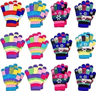12 Pairs Unisex Kids Gloves Stretch Full Finger Mittens...