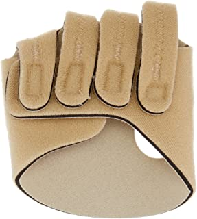 Rolyan Hand-Based in-Line Splint for Left Hand, Size Large Hand Brace for Knuckle Support and MCP Joint Alignment, Reinforced Neoprene Hand Support with Finger Straps, Finger Alignment Splints