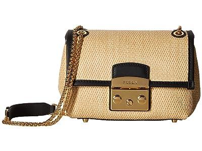 Furla Nuvola Mini Crossbody (Beige) Handbags