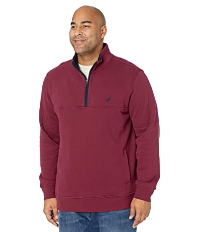 Nautica Big & Tall Big Tall 1/4 Zip Fleece (Zinfandel) Men