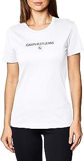 Calvin Klein womens INST ROUND CK TEE T-Shirt