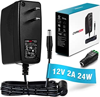 [UL Listed] Chanzon 12V 2A 24W AC DC Switching Power Supply Adapter (Input 100-240V, Output 12 Volt 2 Amp) Wall Wart Transformer Charger for DC12V CCTV Camera LED Strip Light (6Ft Cord, 24 Watt Max)