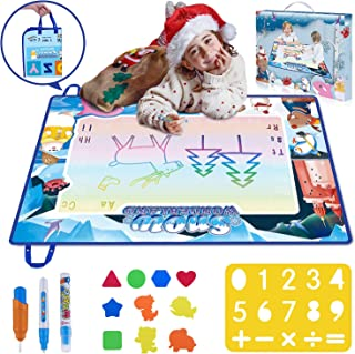 Jionchery Doodle Mat, Large Aqua Magic Water Drawing Mat Toy Gifts for Boys Girls Kids Painting Writing Pad Educational Learning Toys for Toddler