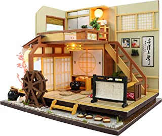 Cool Beans Boutique Miniature DIY Dollhouse Kit Wooden Japanese Home Forest Lodge with Dust Cover - Architecture Model kit (English Manual) - M034Z Japanese Home M034Z