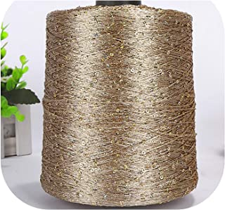500g /lot Paillette Yarn Sequins Wool Needle Natural Beads lace tie a Knot Yarn for Hand Knitting Crochet Thread line,Color Code 1142