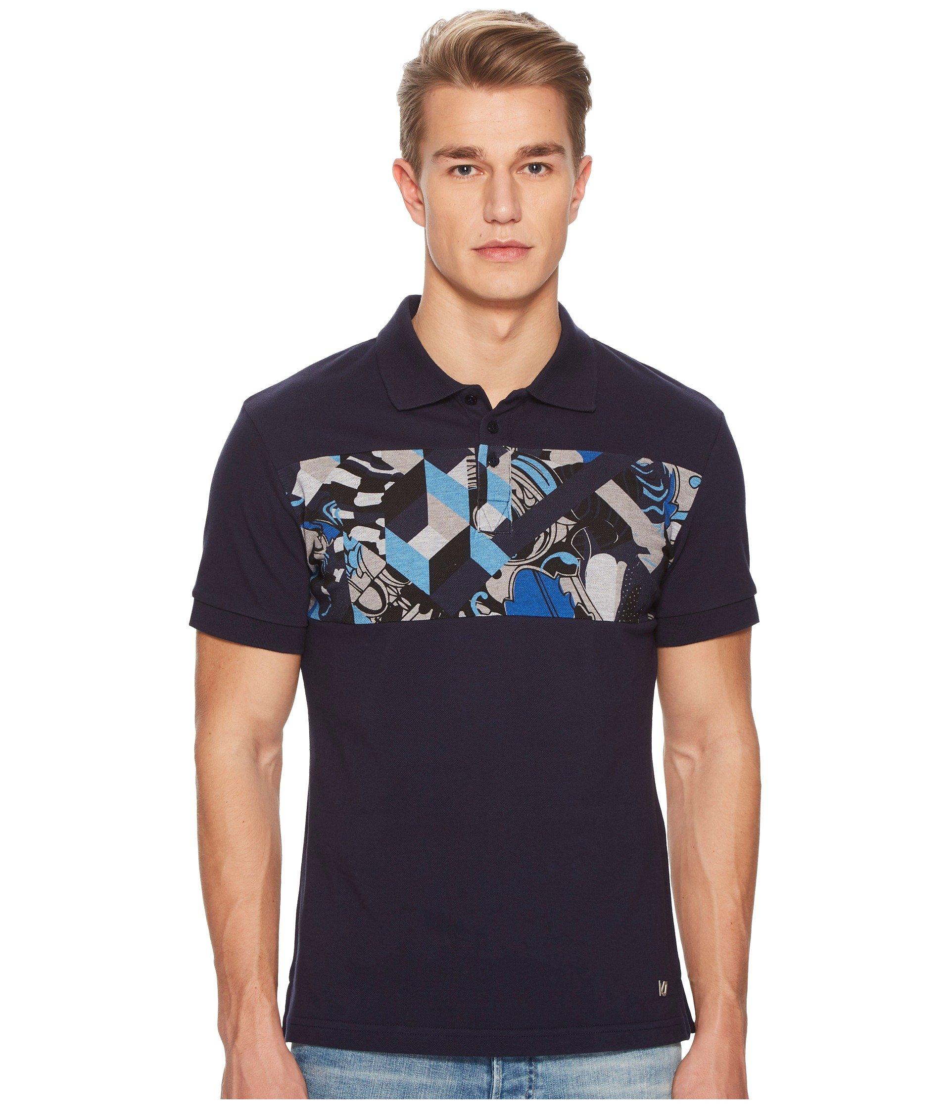 Camiseta Tipo Polo para Hombre Versace Jeans Graphic Block Stripe Polo  + Versace en VeoyCompro.net