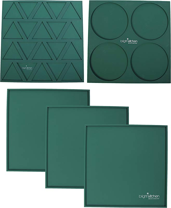 3 Edge Sheets 1 Triangle Mold 1 Circle Mold 14 X 14 Silicone Sheets For Excalibur Dehydrator Bright Kitchen Re Usable Non Stick Mat 3 Edge 1 Triangle 1 Circle