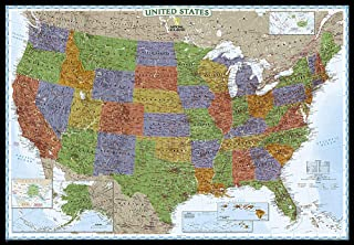 National Geographic: United States Decorator Enlarged Wall Map - Laminated (69.25 x 48 inches) (National Geographic Reference Map)