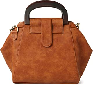 RASHKI UNICA Women Sling bag/Handbag Vegan Leather Tan