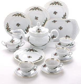 Wawel Tea with Grace Christmas Berry Fine China Tea Set for Children