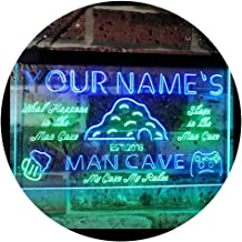 Personalized Your Name Custom Man Cave Established Year Dual Color LED Neon Sign Green & Blue 300 x 210 mm st6s32-pb1-tm-gb