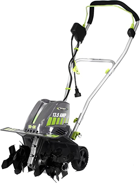 Earthwise TC70016 16 Inch 13 5 Amp Corded Electric Tiller Cultivator Grey