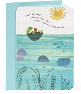 Hallmark Get Well Card (Turtle Floating)