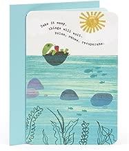 Hallmark Get Well Card (Turtle Floating)