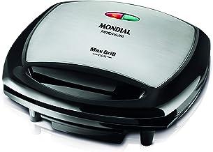 Grill Mondial, Max Grill Inox Premium 2 em 1, 127V, Preto, 1200W - G-07