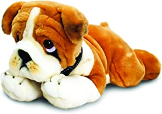 Keel Toys 35 Cm Stuffed Bulldog Toy, One size Tan and White