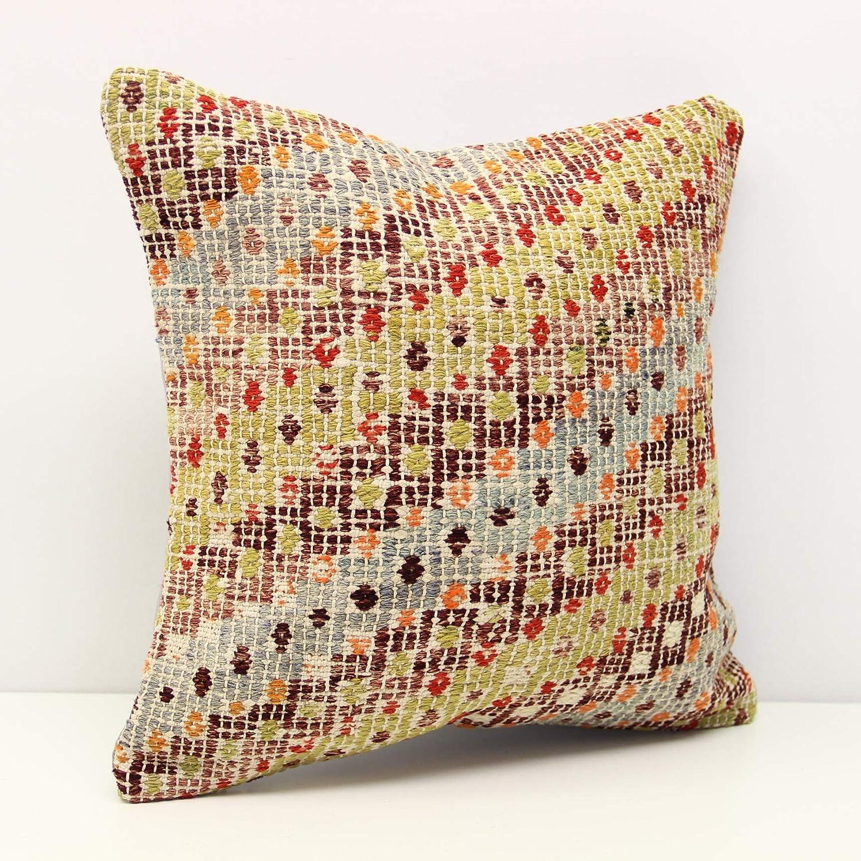 Handmade Kilim pillow Raleigh Mall 16x16 inch Bo cm Decorative Surprise price 40x40