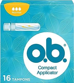 o.b.® ProComfort® Compact Applicator Normal tampons met applicator voor discreet en eenvoudig inbrengen en betrouwbare bes...