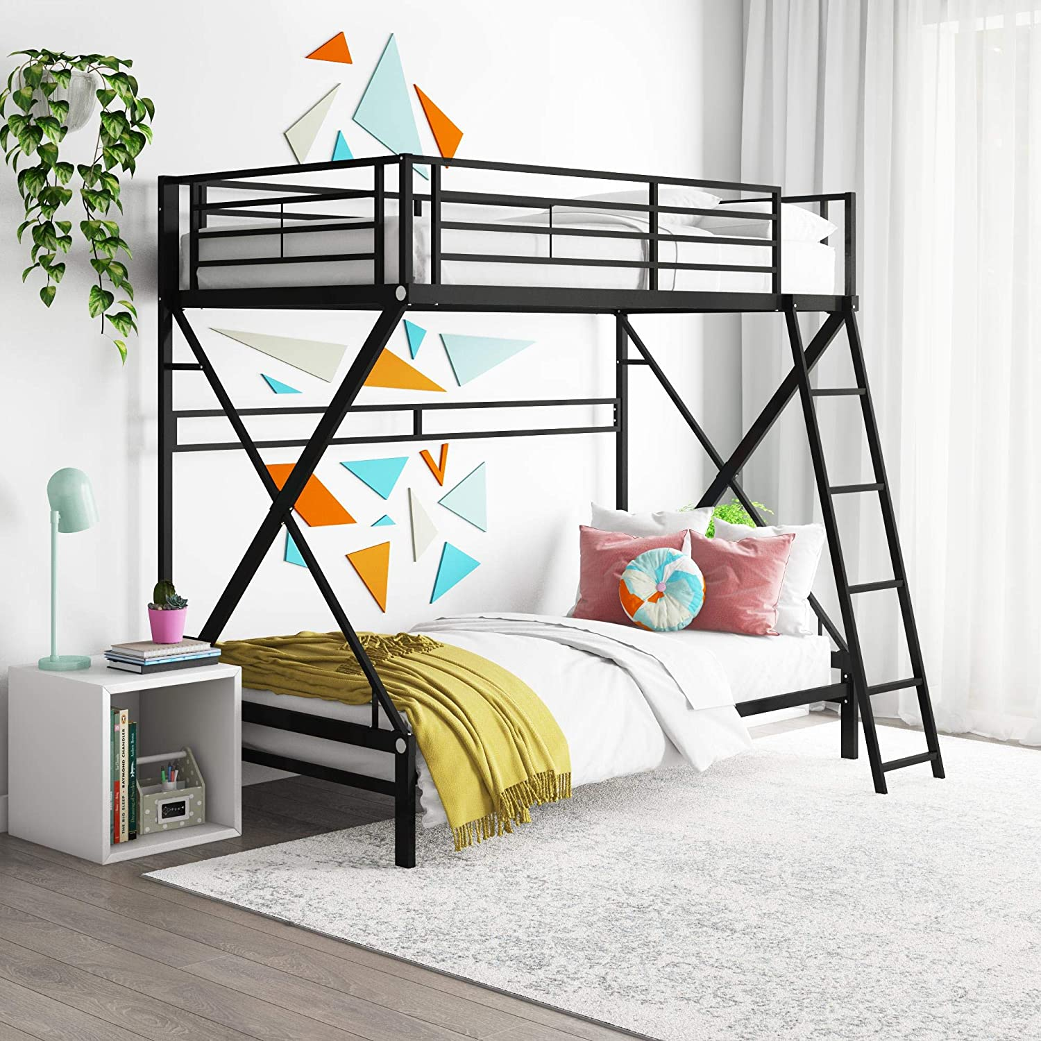 DHP shipfree X Twin Over Sales results No. 1 Metal Bunk Bed Kids for Adults B Frame and