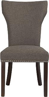 Boraam Monaco Parson Dining Chair, Steel Gray