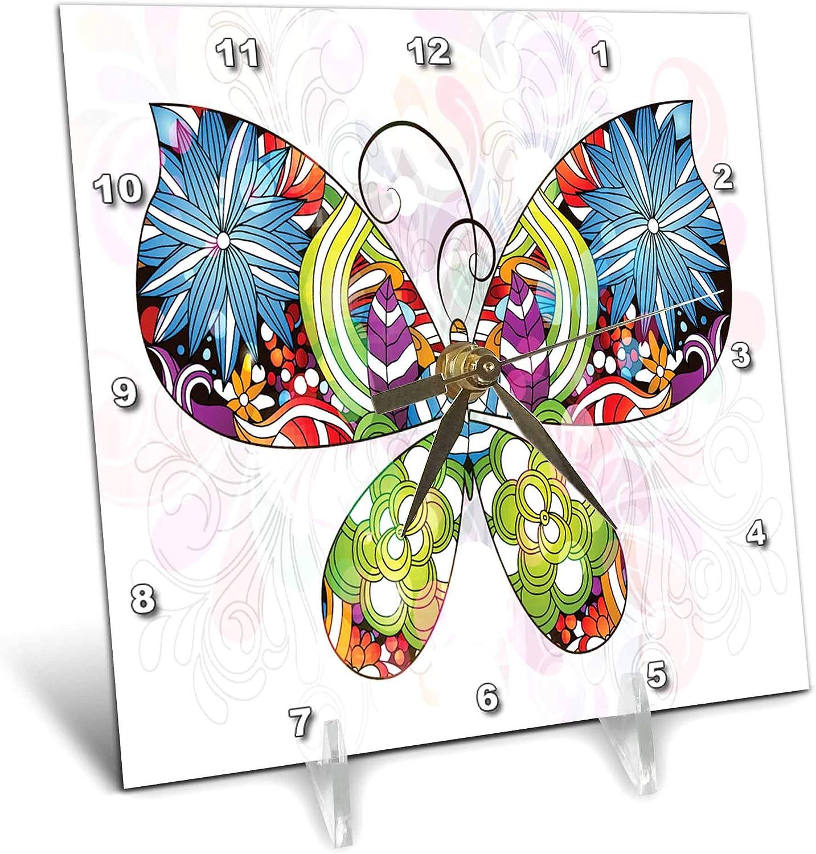 3dRose Butterfly Flowers Ranking TOP9 Pattern Green Yellow Purple Blue price