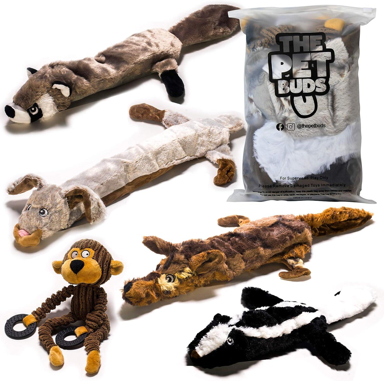 ThePetBuds - No Philadelphia Mall Stuffing Dog Toy -No Bundle Danger Pack 5 Set Max 47% OFF