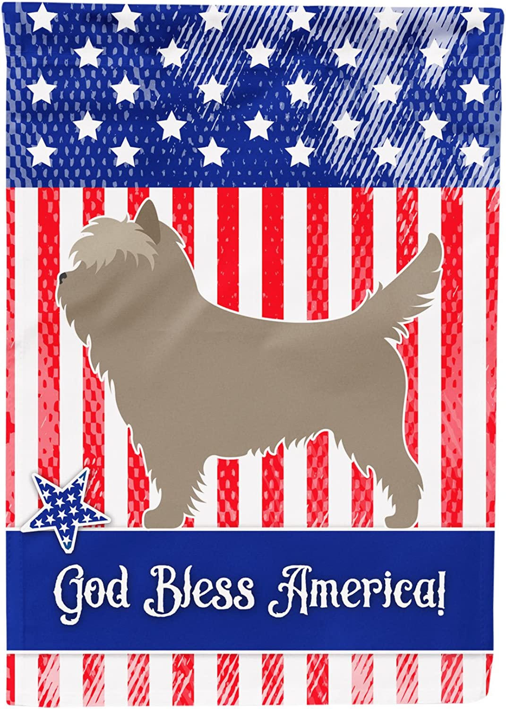 Caroline's Treasures BB8367CHF Cairn Terrier American Canvas House Flag, Multicolor