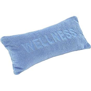 brandseller Nackenkissen mit Saugn/äpfen als Reisekissen oder Wannenkissen aus weichem Microfaser Kissen f/ür Badewanne Aufschrift Wellness Weiss